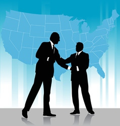 business agreement vector image