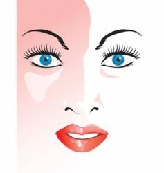closeup face vector image