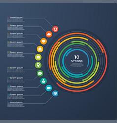 presentation infographic circle chart 10 options vector image