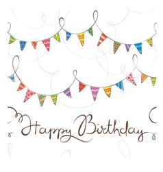 Birthday pattern with flags vector image