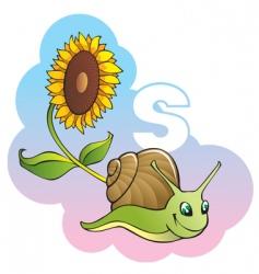 children alphabet letter s vector image vector image