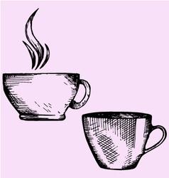 coffee cup tea cup vector image