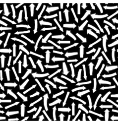 Different White Arrows Seamless Pattern vector image