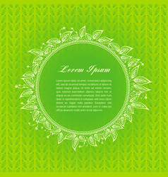 green calligraphic elements vector image vector image