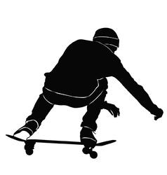 Young man riding a skateboard vector image