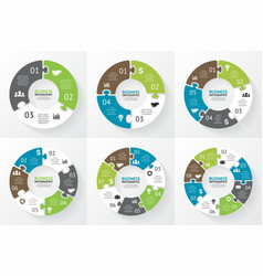 Circle puzzle infographic Diagram presentation vector image vector image