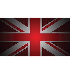 red uk flag vector image vector image