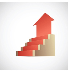 Stairway to success infographic vector image