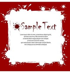 Text on inkblots background vector image vector image