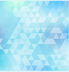 abstract triangle pattern on blue color vector image vector image