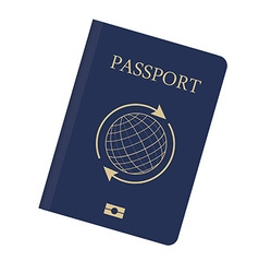 Blue passport vector image vector image