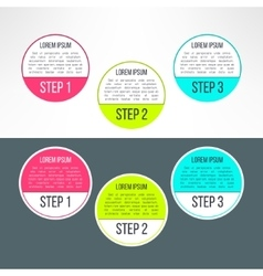 business process steps circles infographics vector image