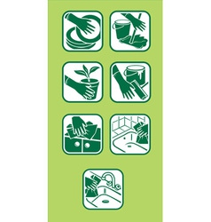 domestic green cleaning vector image vector image
