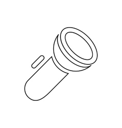 Electric flashlight icon outline style vector image