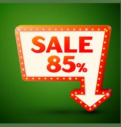 retro billboard with sale 85 percent discounts vector image vector image