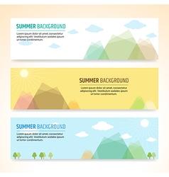 Set of summer holiday banner design vector image