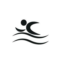 Summer swim water people pictogram icon vector