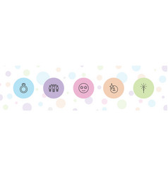 5 star icons vector