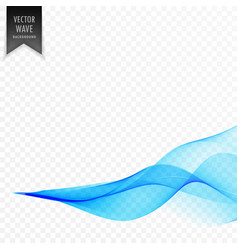 abstract blue smooth wave design vector image