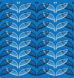 angel wings blue sketch pattern vector image