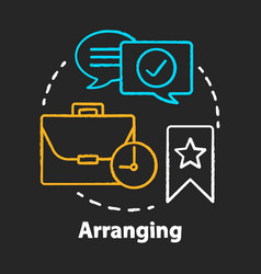 arranging chalk concept icon business meeting vector image