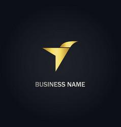 arrow bird fly logo vector image