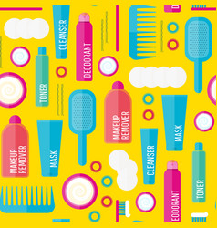 Beauty products seamless vector