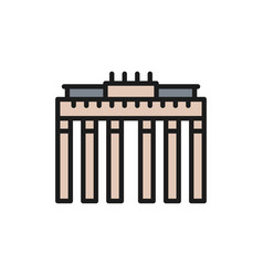 brandenburg gate landmark berlin german flat vector image