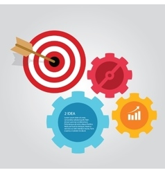 Business target infographic dart board arrow vector image vector image