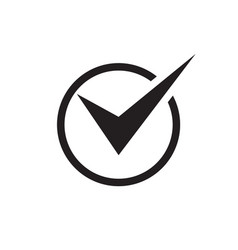 check mark - black icon on white background vector image