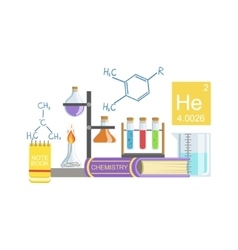 Chemistry Class Set Of Objects vector