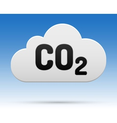 Co2 cloud white vector