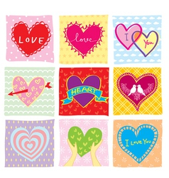 Colorful Hearts Set vector