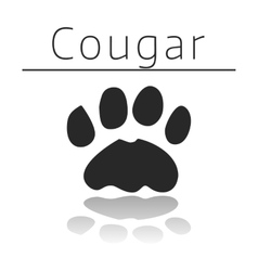 Cougar animal track vector
