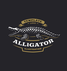 Crocodile logo - alligator vector