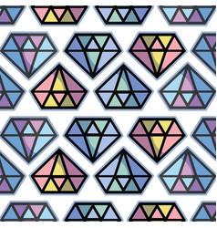 cute diamond luxury accessory gem background vector image