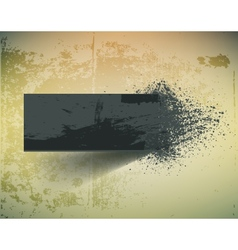 Dark grunge ink splash banner vector