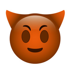 Devil emoticon funny icon vector
