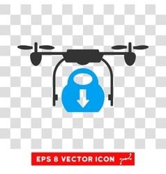 Drone Drop Cargo Eps Icon vector image
