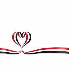 egyptian flag heart-shaped ribbon vector image