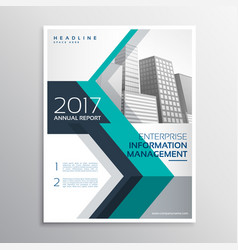 Elegant annual report brochure design in size a4 vector