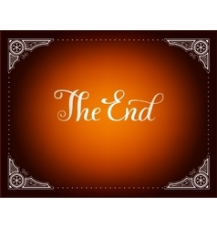 Final frame The End vector image
