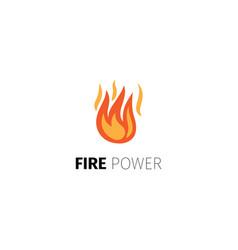 Fire power logo template vector