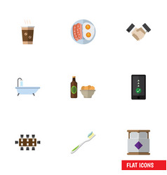 Flat icon lifestyle set of tub partnership vector