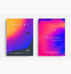 fluid gradient modern poster with shape vector image