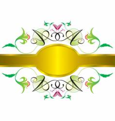 garden frame vector image