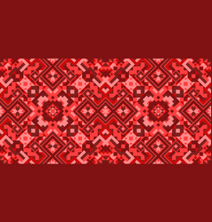 geometric ethnic style seamless pattern vector image