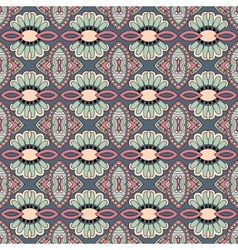Geometry vintage floral seamless pattern vector