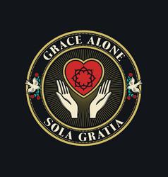 Grace alone vector