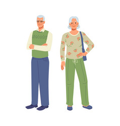 grandmother and grandfather elderly age people vector image